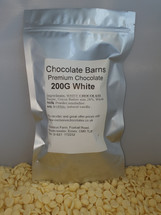 Chocolate Barns Premium WHITE Chocolate Buttons/Chips/Callets 200G