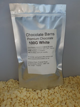 Chocolate Barns Premium WHITE Chocolate Buttons/Chips/Callets 100G