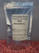 Chocolate Barns Premium STRAWBERRY Chocolate Buttons/Chips/Callets 1KG
