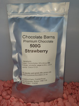 Chocolate Barns Premium STRAWBERRY Chocolate Buttons/Chips/Callets 500G