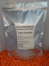 Chocolate Barns Premium ORANGE Chocolate Buttons/Chips/Callets 2.5KG