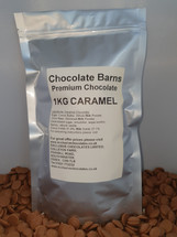 Chocolate Barns Premium CARAMEL Chocolate Buttons/Chips/Callets 1KG