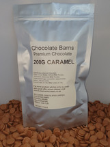 Chocolate Barns Premium CARAMEL Chocolate Buttons/Chips/Callets 200G
