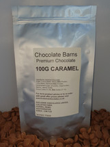 Chocolate Barns Premium CARAMEL Chocolate Buttons/Chips/Callets 100G