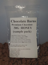 Chocolate Barns Premium HONEY Chocolate  Buttons/Chips/Callets 30G sample pack