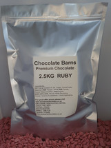 Chocolate Barns Premium RUBY Chocolate Buttons/Chips/Callets 2.5KG