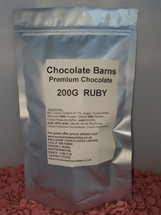Chocolate Barns Premium RUBY Chocolate Buttons/Chips/Callets 200G