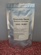 Chocolate Barns Premium RUBY Chocolate Buttons/Chips/Callets  100G
