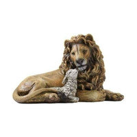 Lion & Lamb Figurine