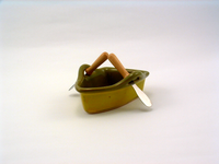 Avocado & Gold Boat Dip Pot