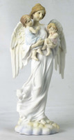 Angel Holding Boy and Girl
