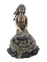 Mermaid Sitting on Rock Trinket Box