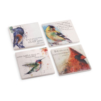 Birds Of Faith Coaster Set of 4, Dean Crouser