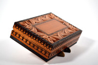 Deep Carved Stained Box