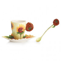 Van Gogh Sunflowers Cup/Saucer/Spoon