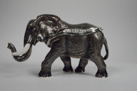 African Elephant Jewelry Box with Necklace