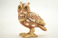Screech Owl Jewelry Box with Necklace