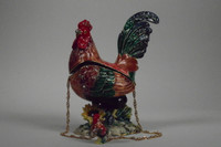 Proud Rooster Jewelry Box with Necklace