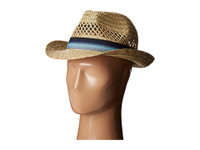 Men's Seagrass Fedora W/Ombre Band (NATURAL)