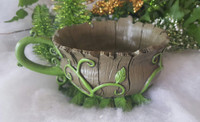 Woodland Teacup Planter