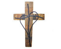 Heart Cross 14""