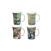 Renoir set of 4 Artisanal Fine China Mugs