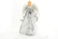 Silver and White Angel Tree Topper