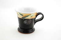 Black Green Teacup