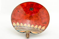 Red leaf motif Small Footed Bowl