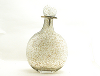 Gold Speckled Clear Tabletop Vase