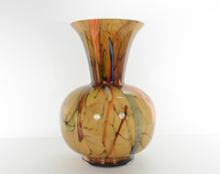Multi-colored Striped Vase