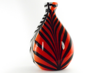 Abstract Zebra Print with Orange Red Side