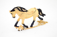 Shiloh Quarter Horse Jewelry Box with Necklace