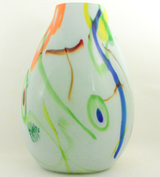 Marble Style Glass Vase