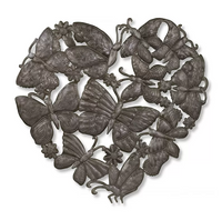 Heartfelt ButterfliesMetal Wall Art