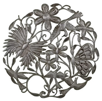 Butterfly Bird Metal Wall Art