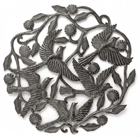 Birds in Flock Metal Wall Art