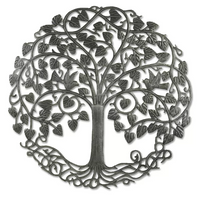 Cirle Tree of Life Metal Wall Art