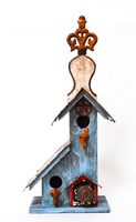 Hand-Made Big Blue Birdhouse