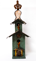 Hand-Made Big Turquoise Birdhouse