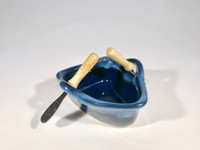 Northern Lights Boat Dip Pot