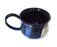 Blue and Cream Mug with 2 Dimples