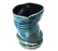 Green and Blue Small Vase