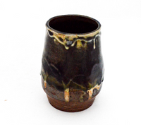 Brown and Green Small Vase