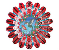 Large Animated Red Hummingbird WInd Spinner