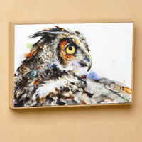 Looking Back Owl Wall Art, Dean Crouser