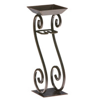 Scroll Candle on Rope Holder