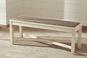 Bolanburg Two-tone Large Upholstered Dining Room Bench