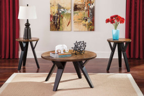 Ingel Two-tone Brown Occasional Table Set (3/CN)