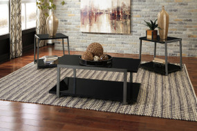 Rollynx Black Occasional Table Set (3/CN)